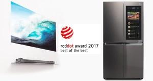 LG wins 20 red dot awards