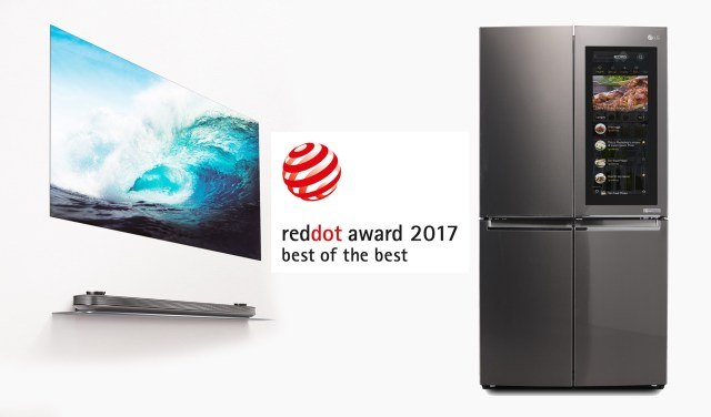 LG wins 20 red dot awards