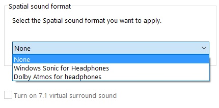 Windows 10 Creators Update Spatial-Sound