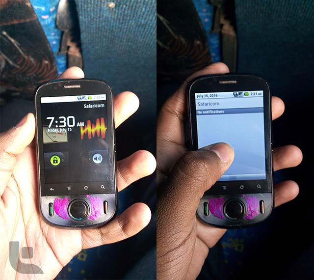 Huawei Ideos U8150 side by side