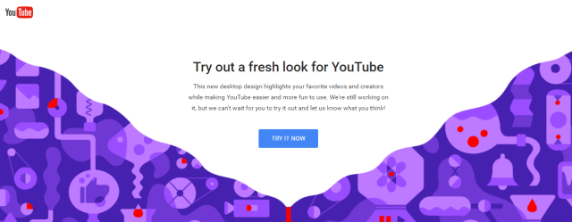 YouTube desktop material design