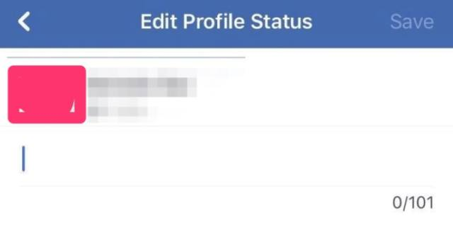 faebook temporary profile status
