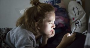 teen using mobile