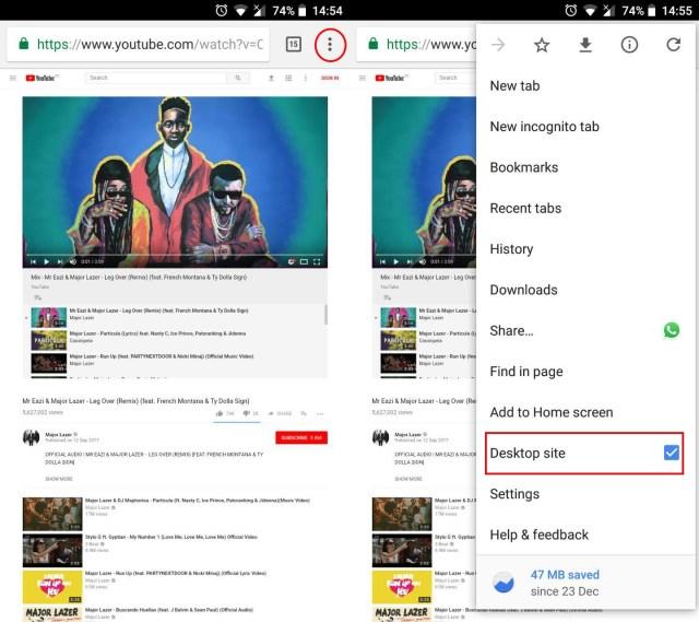 YouTube Chrome screenshot