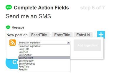 completeing ifttt sms tutorials