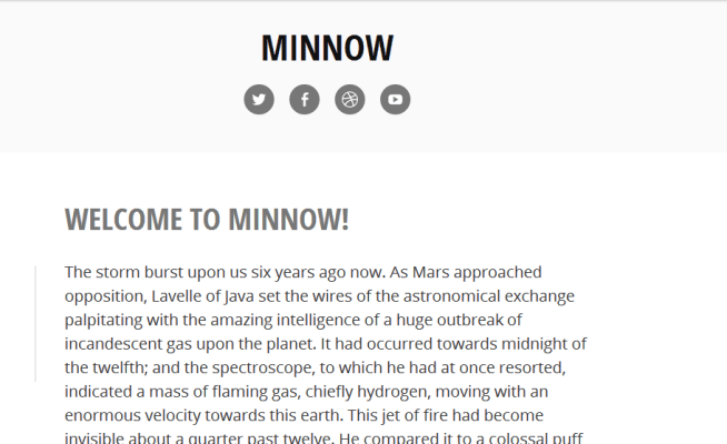 Minnow desktop view