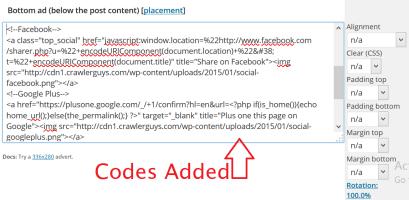 Add codes