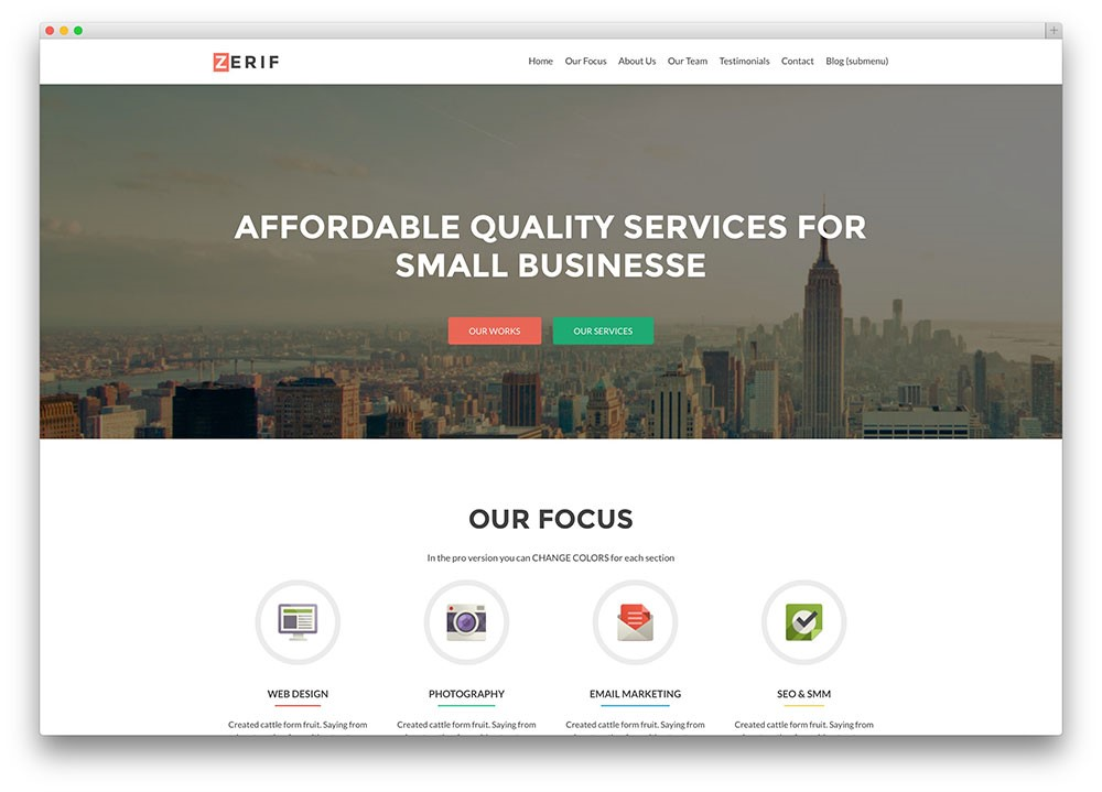 Best Free Elegant Business WordPress Themes