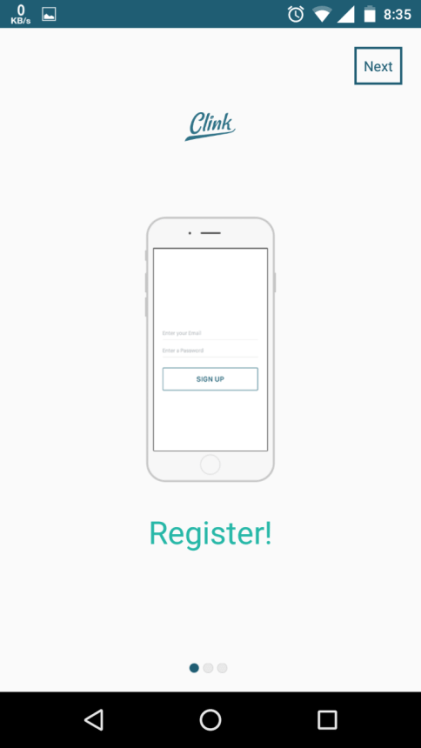 register for the service