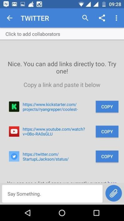 adding links to it