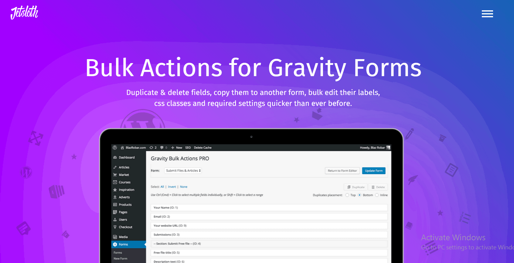 Bulk Actions Free Addon for Gravity Forms That Can Save A