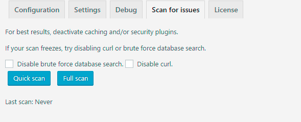 scanning issues
