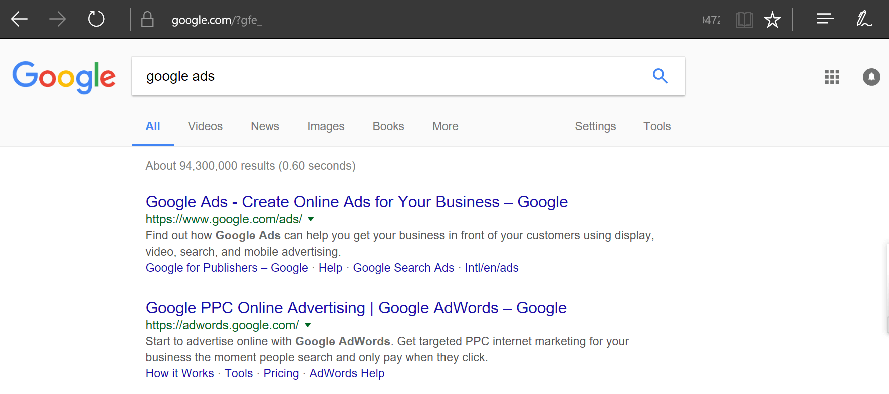 zero ads