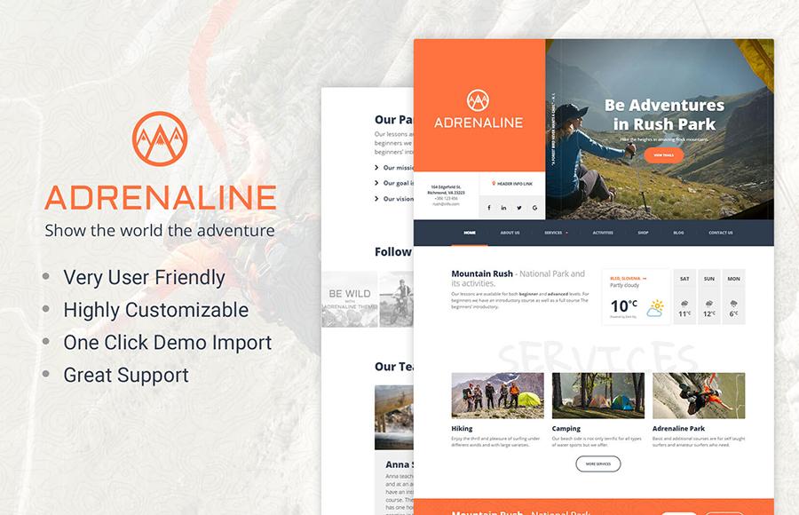Adrenaline - Adrenaline Sports WordPress Theme