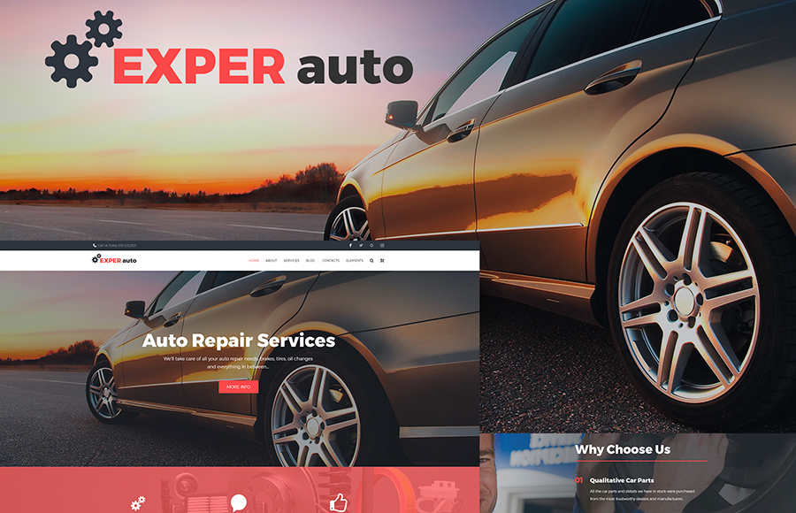 Auto Repair Services Fully Responsive WordPress Theme