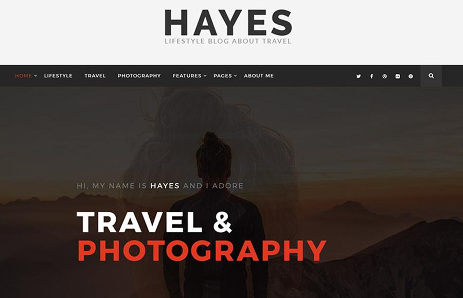 Hayes - Travel Blog WordPress Theme