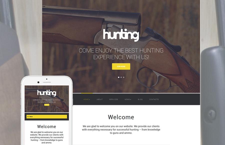 Hunting WordPress Template