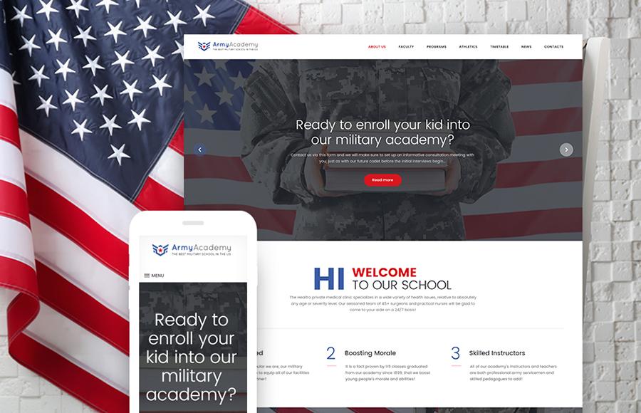 Military School WordPress Theme