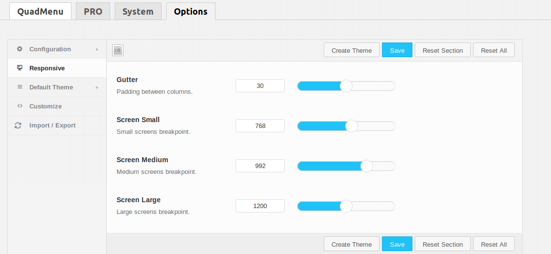 Create Custom Menu with QuadMenu - 3