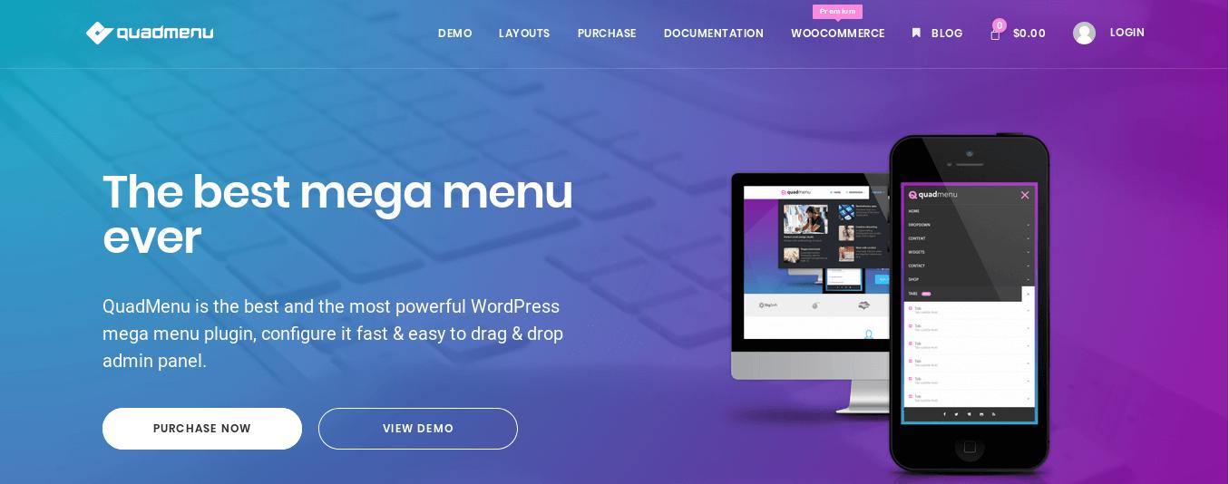 QuadMenu Homepage
