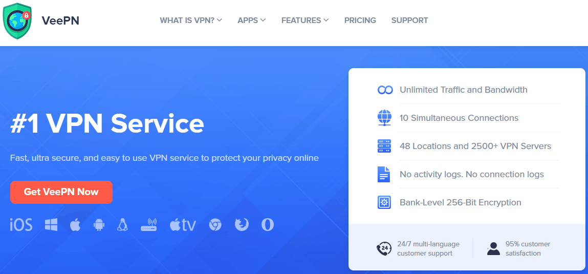 VeePN - Best VPN for Any Platform and Any Device With