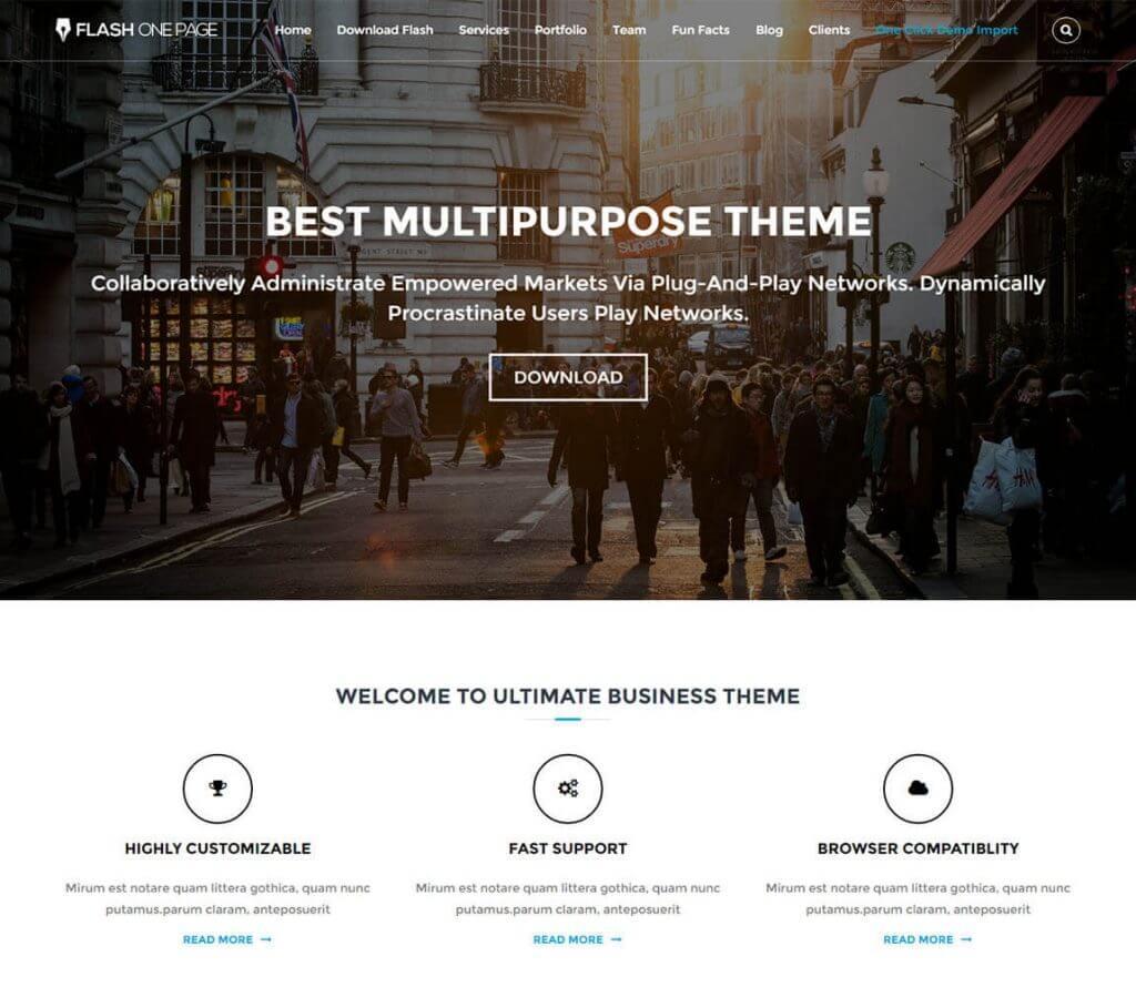 Flash-free wordpress theme for online portfolios