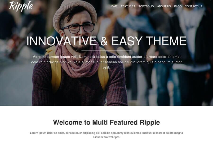 Ripple - free WordPress theme