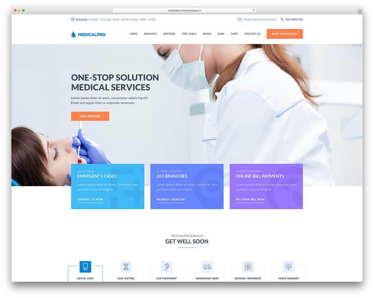 medicalpro-dentist-wordpress-website-template