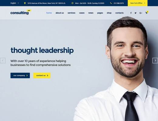 consulting insurance wordpress themes