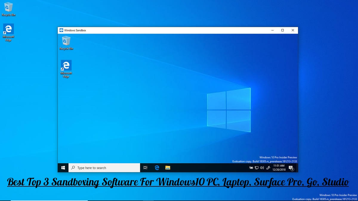 Sandboxing Software For Windows10