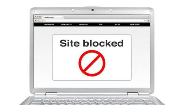 blocked website