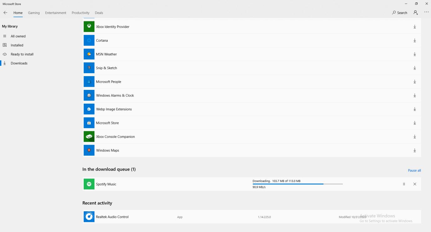 Update Spotify