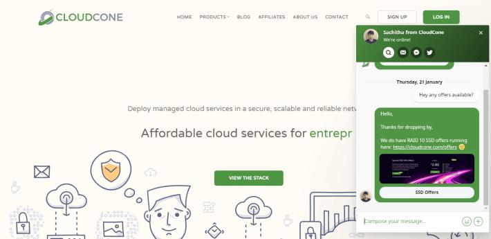 CloudCone Customer Support