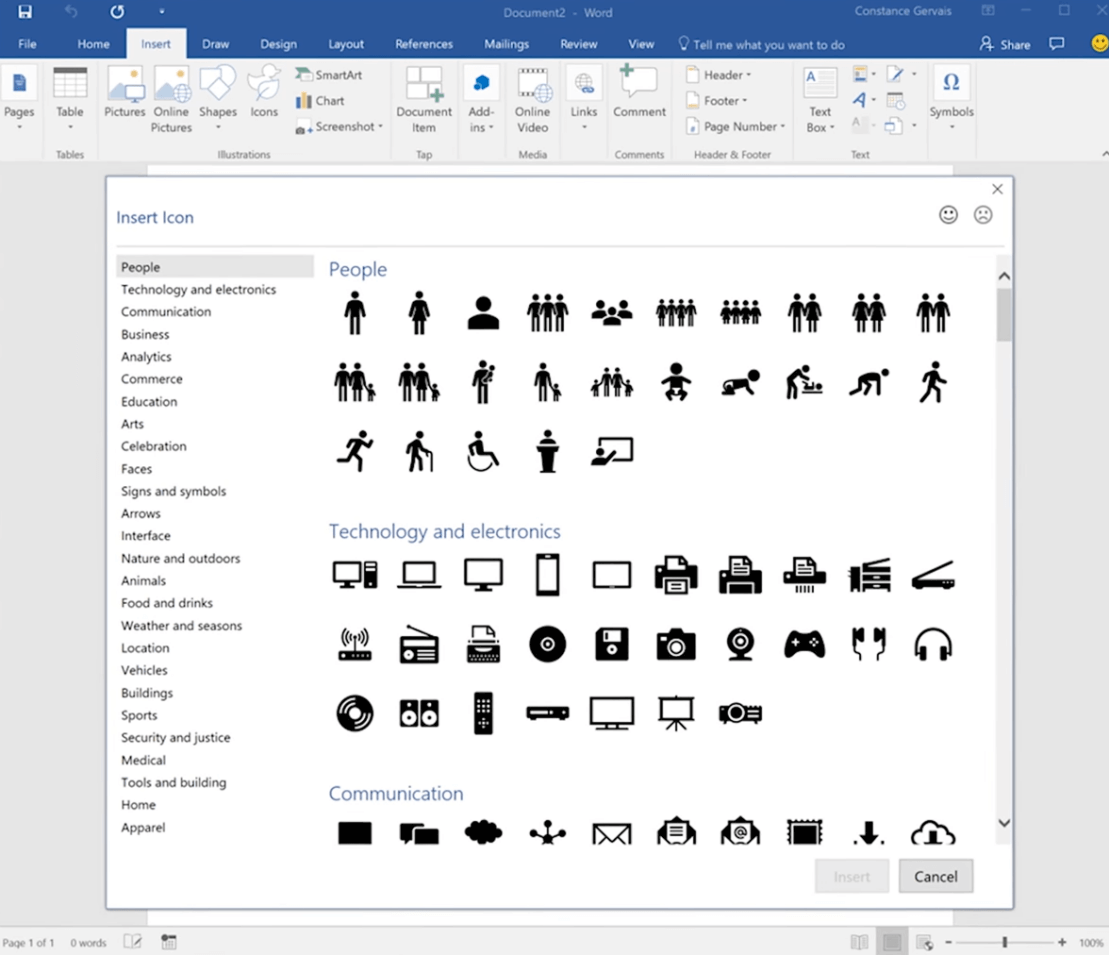 Office 2016 User-interface