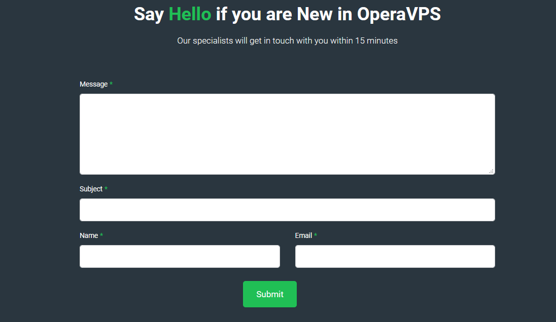 OperaVPS Email Service