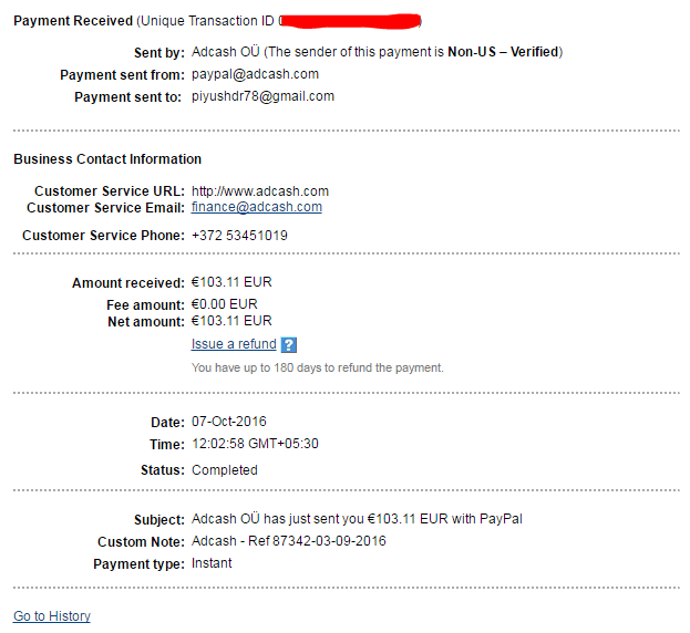 adcash payment proof