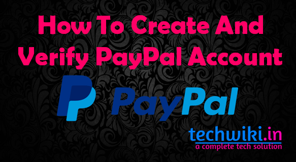 create a paypal account