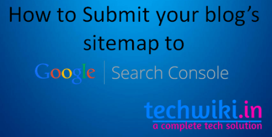 how to submit sitemap to google using google search console
