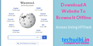 Download a website to access it offline