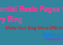 basic pages for every blog