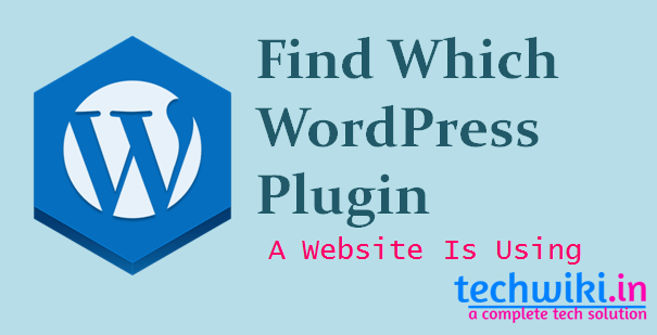 find which wordpress plugin a website is using