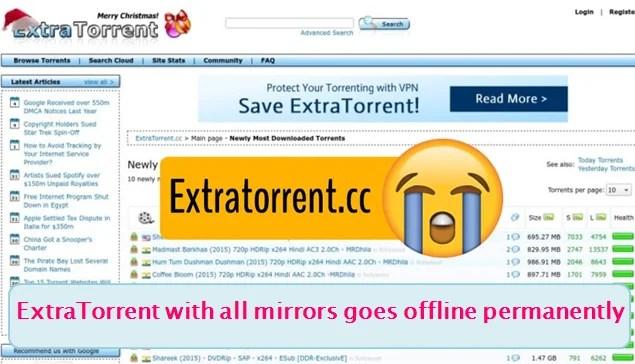 extratorrent permanently shutdown