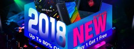 2018 New Arrivals Sale promo site at Geekbuying