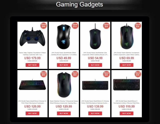 GeekBuying's Razer Flash Deals upto 50% OFF