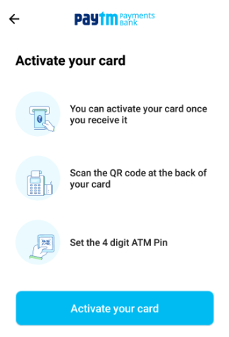 apply for paytm atm card