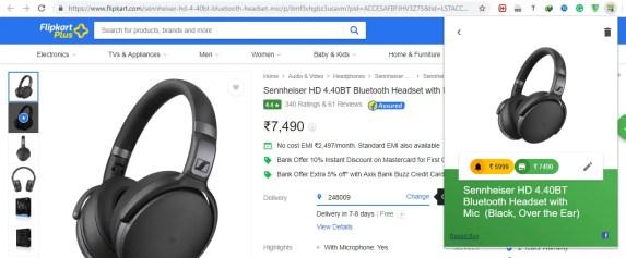Set Price Alert on price guru