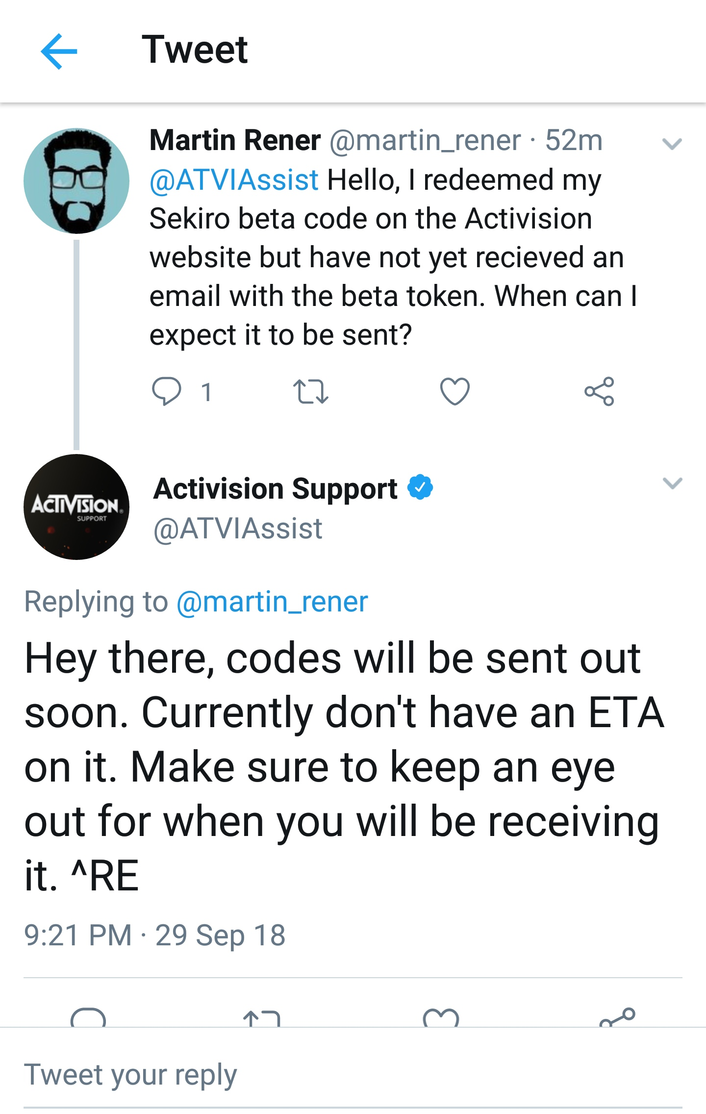 "Activision Confirms the Beta of ""Sekiro Shadows Die Twice"" by Mistake"
