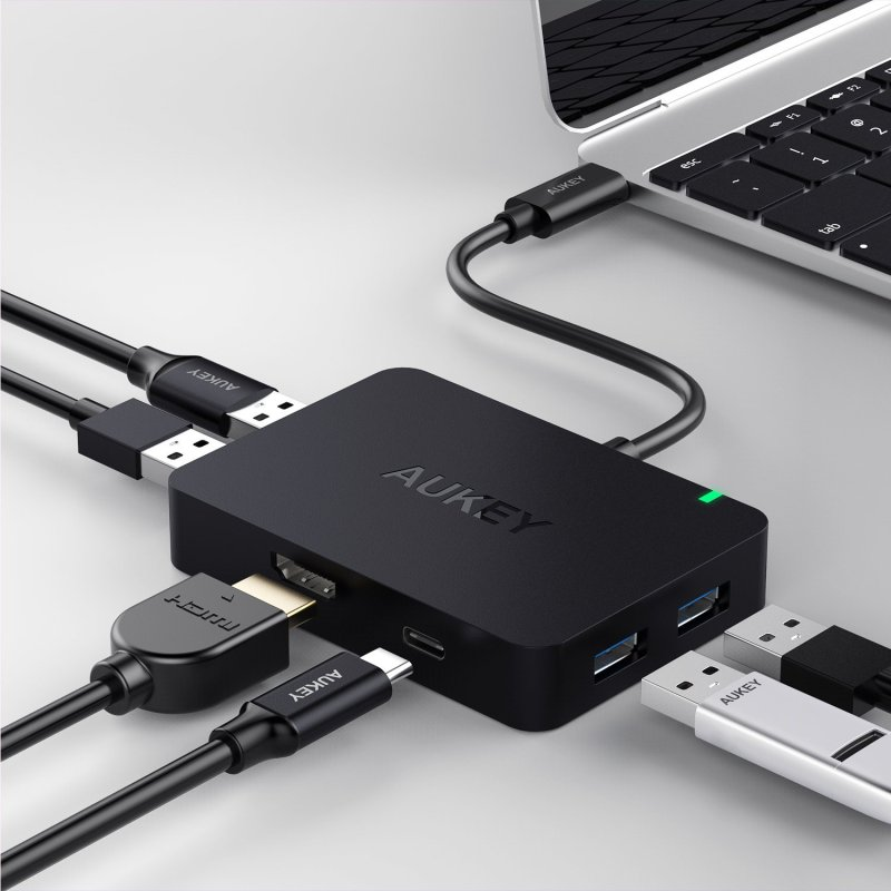AUKEY-USB-C-Hub-with-HDMI-4-USB-3.0-Ports-Type-C