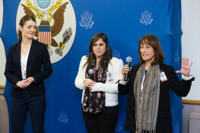 From left to right: Teresa Williams, Lara Chikhani and Julia Lovin.