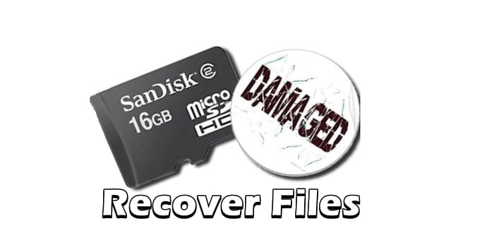 Here's how you can recover files from a corrupt/damaged SD